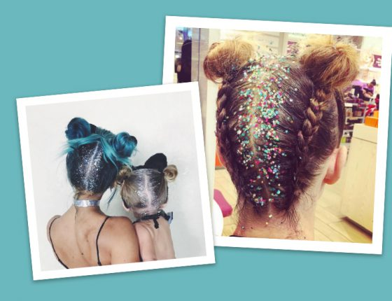 Glitter roots: the trend we thought would fade, is getting even sparklier
