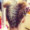 Glitter Hair Roots @the_braid_bar