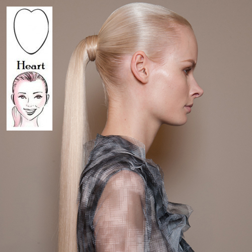 Hair styles for heart shaped faces