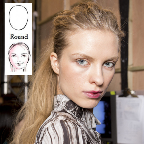 Hair styles for round face shapes