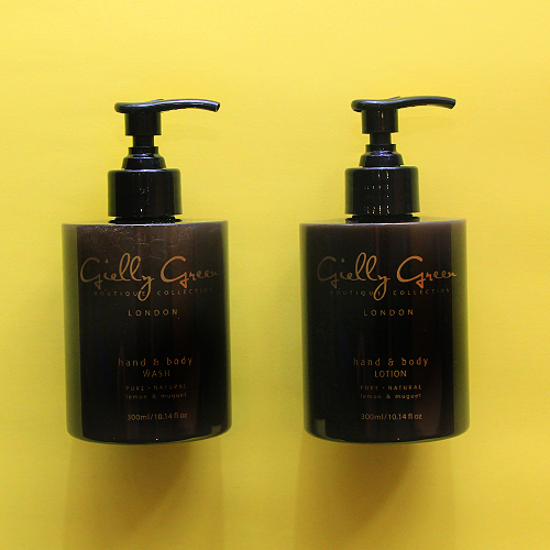 Gielly Green hand wash and hand lotion