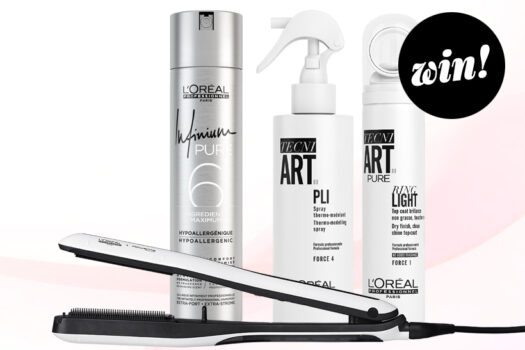 Say hello to sleek, shiny strands with a L'Oréal Professionnel Paris Steampod 3.0 and Tecni.ART treats worth £280!