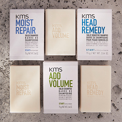 KMS shampoo bars and packaging for Layered Loved