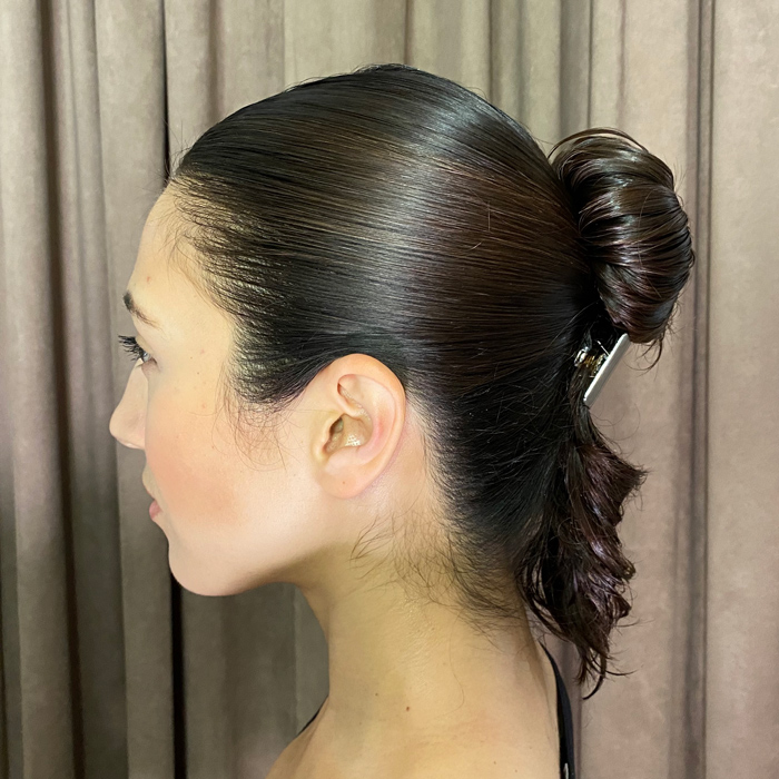 healthy hair up look from Neil Moodie