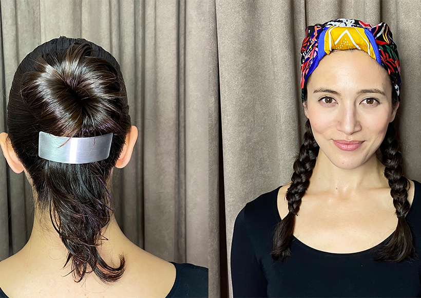 Holiday hair styling tile image