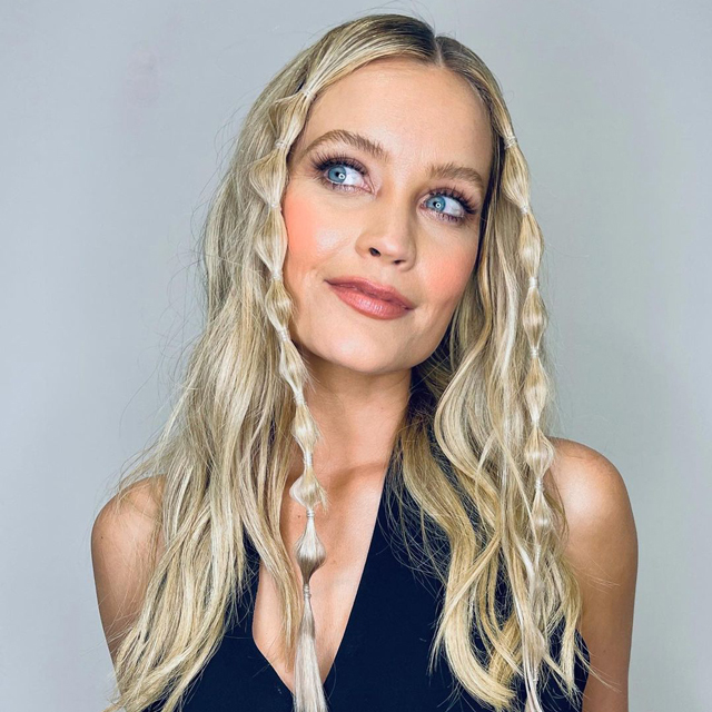 Laura Whitmore with bubble braids
