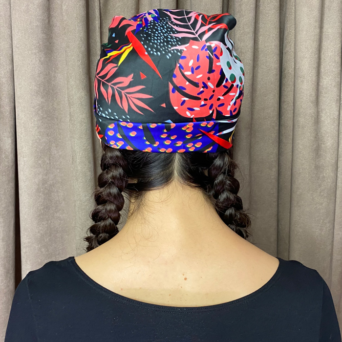 Braided head wrap style by Neil Moodie