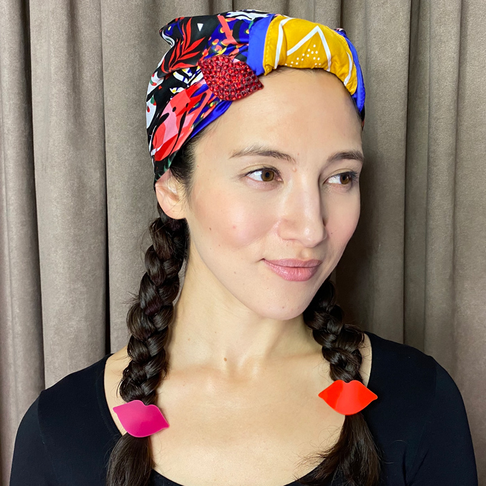 Braided head wrap hair style by Neil Moodie