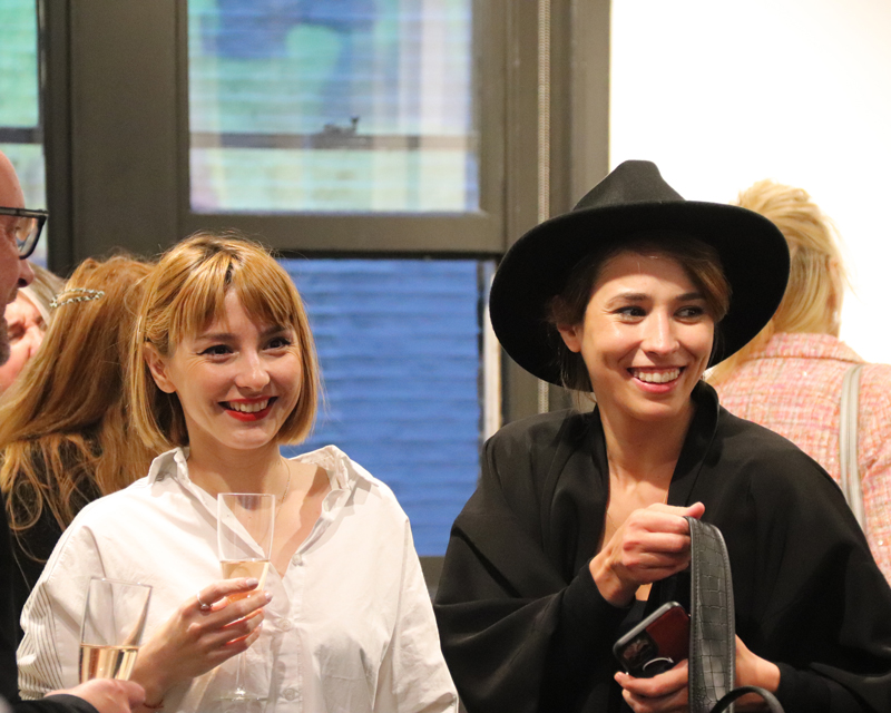 Clients at the Big Hair Do 2021 at Billie Currie hair salon in London
