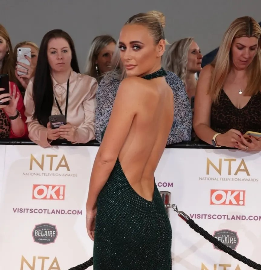 Millie Court with hair up for red carpet hair look at the NTA's 2021