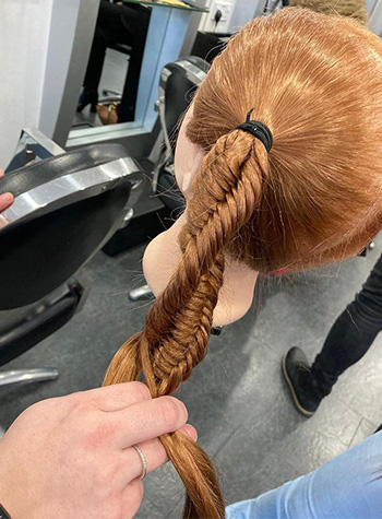 Big Hair Do 2021 mannequin modelling twisted plaits
